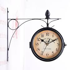 winomo european antique style double side wall clock creative