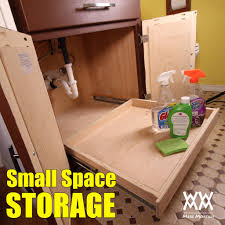 Under Desk Storage Drawers by Under Sink Storage How To Build And Install A Full Extension