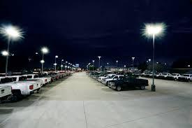 led parking lot lights vs metal halide hubbell outdoor lighting