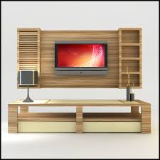 modern tv wall units from wooden dining table design ideas