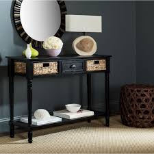 Distressed Sofa Table by Safavieh Christa Distressed Black Storage Console Table Amh5737a
