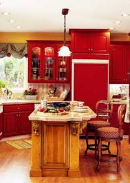 Bright Colored Kitchens - vibrant kitchen colors photos red and gold create a striking