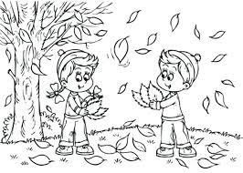 fall leaves and acorn coloring page free printable pages inside