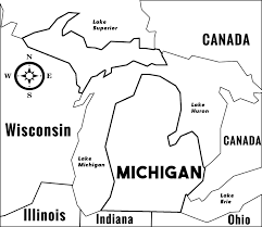 State Of Michigan Map by Michigan Mi State Information