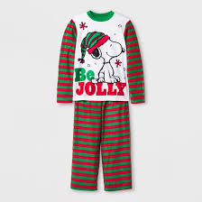 boys peanuts snoopy sleeve pajama set with gift bag white