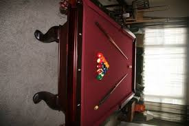 Dlt Pool Table by Dlt Full Size Slate Cherry Finish Pool Table Bloodydecks