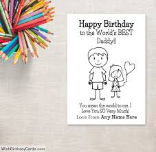 birthday cards for dad from daughter happy birthday cards for dad