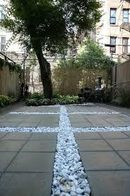 Concrete Slabs For Backyard by Ideas For Landscaping Gravel White Concrete Slabs Terrace Http