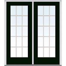 French Outswing Patio Doors by Double Door Front Doors Exterior Doors The Home Depot