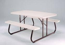 Plastic Folding Picnic Table So Lifetime 2155 5 Ft Almond Foldable Folding Plastic Picnic Table