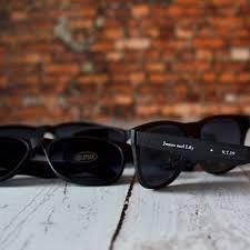 wedding favor sunglasses personalized black frame sunglasses wedding favors favors