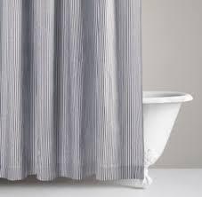 Baby Bathroom Shower Curtains henley stripe shower curtain shower curtains restoration
