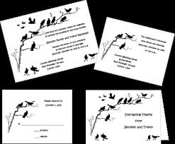 blackbirds wedding invitations for halloween