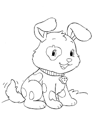 Picture Of A Puppy To Color Coloring Pages For Kids And For Puppy Color Pages