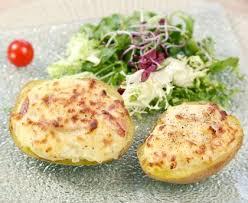 recette de cuisine pomme de terre pommes de terre farcies aux lardons recette de pommes de terre