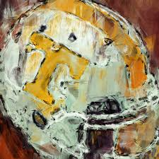 Tennessee Vols Home Decor Tennessee Volunteers Helmet Abstract Digital Art By David G Paul