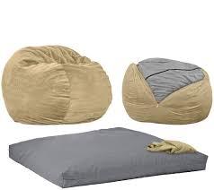 Original Big Joe Bean Bag Cordaroy U0027s Full Size Convertible Bean Bag Chair By Lori Greiner