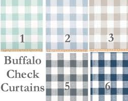 buffalo check curtains etsy