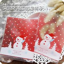 wholesale christmas wrapping paper wholesale christmas snowman for mini transparent scrub flat pocket