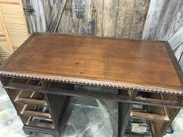 Plank Desk How To Save The Leather Top On A Vintage Desk By Just The Woods