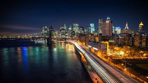New York scenery images Manhattan night scenery new york cit wallpaper 14299 jpg