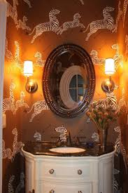 Powder Room Wallpaper by 41 Best Powder Room Images On Pinterest Zebra Wallpaper Fabric