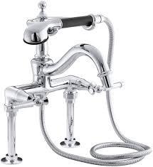 Tub Faucet Hand Shower Kohler Antique Floor Or Wall Mount Bath Faucet With Lever Handles