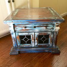 stained glass coffee table vintage french country side table