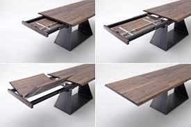 Esszimmertisch Natura Tisch Esstisch Mit Verlängerung Auszug Nussbaum Massiv Rustikal