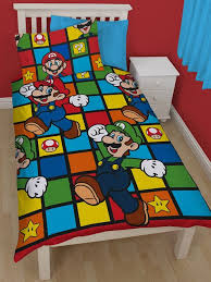 Mario Bros Bed Set Nintendo Mario Retro Single Duvet Cover Bedding Set