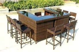 Bar Patio Table Outdoor Bar Patio Set Localbeacon Co