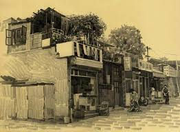 pencil sketching old beijing hutong kuang han u0027s pencil sketching