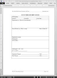 ncr report template fsms nonconformity report template