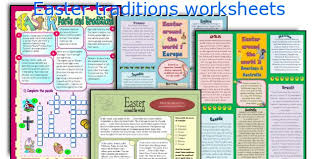 teaching worksheets easter traditions