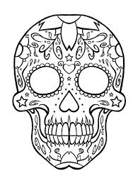 printable sugar skull coloring pages intended to motivate in