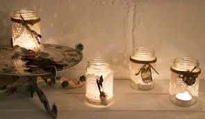 Mason Jar Tea Light Holder Upcycled Glass Jars Tea Light Holders