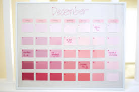 Paint Chips by Diy Reusable Paint Chip Calendar Popsugar Smart Living