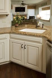 Kitchen Cabinets Refacing Amazing White Kitchen Cabinets With Brown Granite Countertops