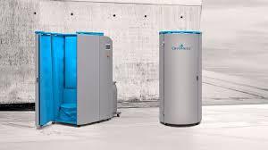 chambre de cryoth apie cabine de cryothérapie cryoness finition bleu northcryo