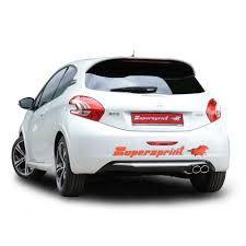 peugeot 208 gti blue peugeot 208 gti sound with supersprint catback system homemade videos