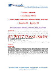2017 passleader 70 534 dumps with vce and pdf question 51