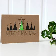 merry christmas modern personalised merry christmas christmas tree card by little