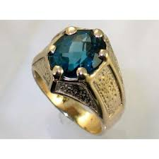 mens gold ring r234 london blue topaz men s gold ring sylvarocks