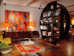 cool home bar decor bar cool orange accents wall paint of home basement bar designs