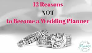 12 reasons not to become a wedding planner