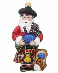 buy scottish santa personalized santa ornaments gifts