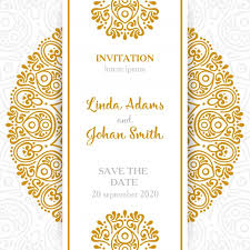 invitation marriage vintage wedding invitation with mandala vector free