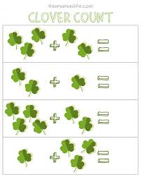 free printables st patrick u0027s day counting match up u0026 word