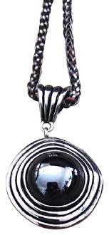 silver vintage necklace images Silver vintage goddess swirl hematite adjustable necklace tradesy jpg