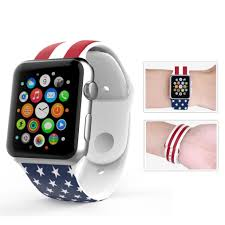 American Flag Watches Customized Printing Color Silicone Watchband Rainbow Flag Pattern